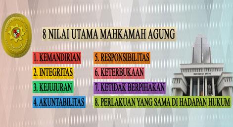8 Nilai Utama Mahkamah Agung